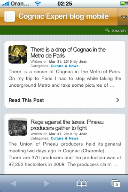 Cognac Expert: The blog is mobile now!