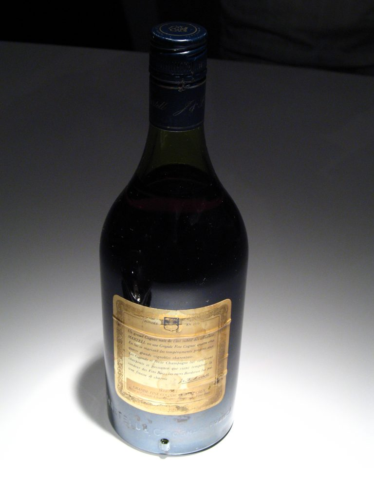 backside label of J&F Martell