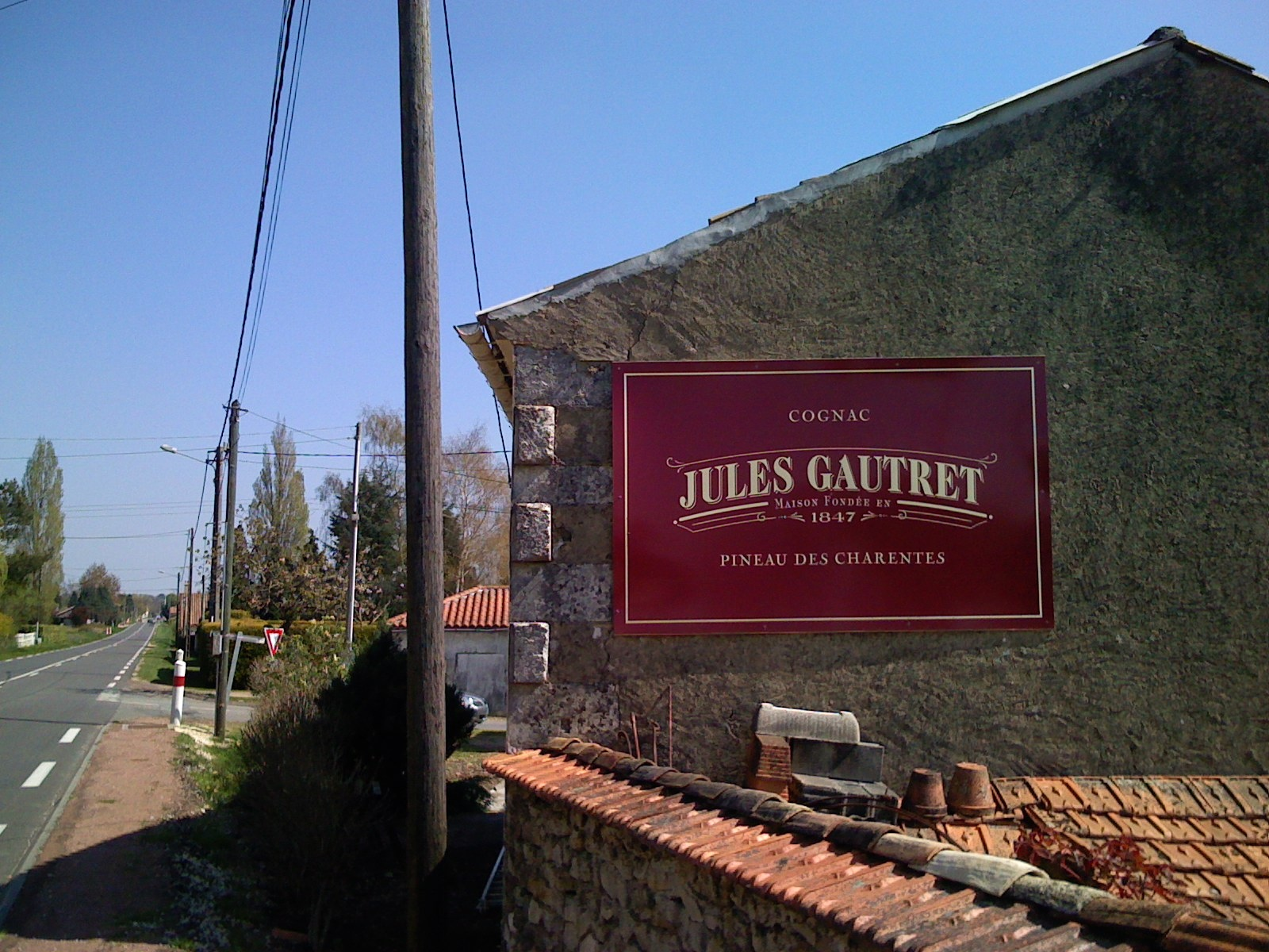 Jules Gautret Cognac sign Charente, France