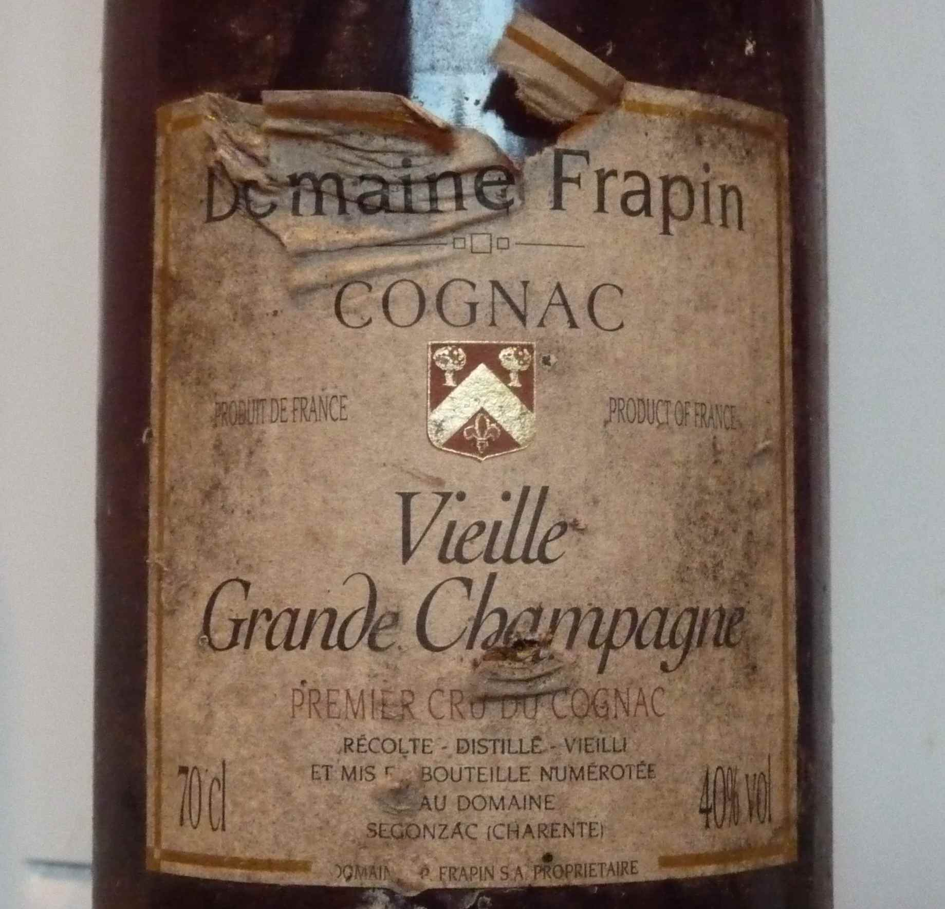 Label of Vieille Grande Champagne