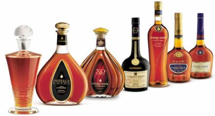 Courvoisier bottles