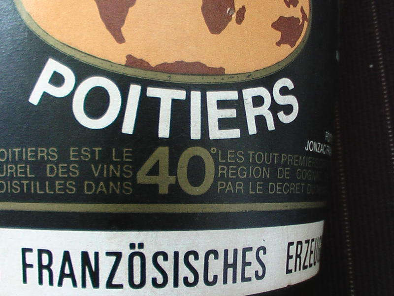label of Poitiers Cognac