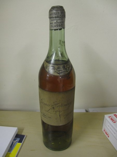 James Hennessy Cognac bottle