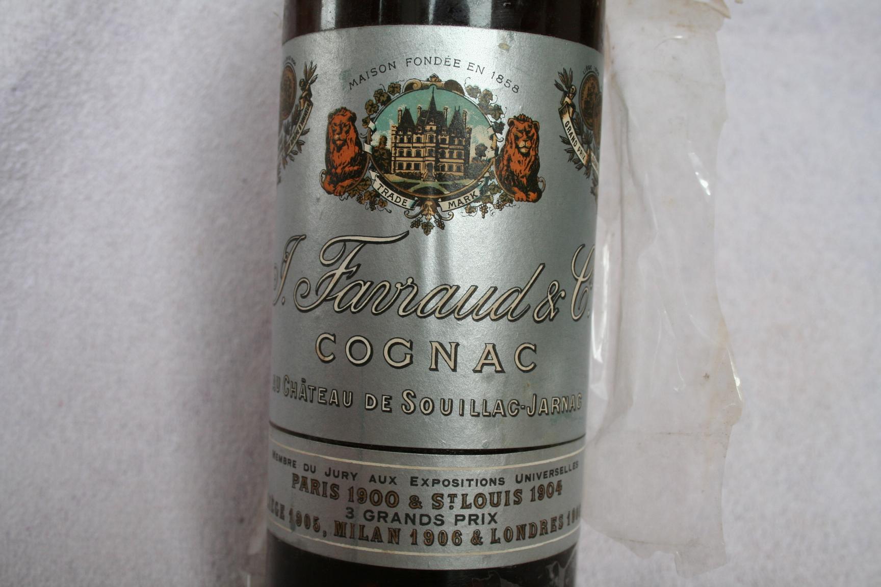 Cognac Favraud Vieille réserve 1893 label
