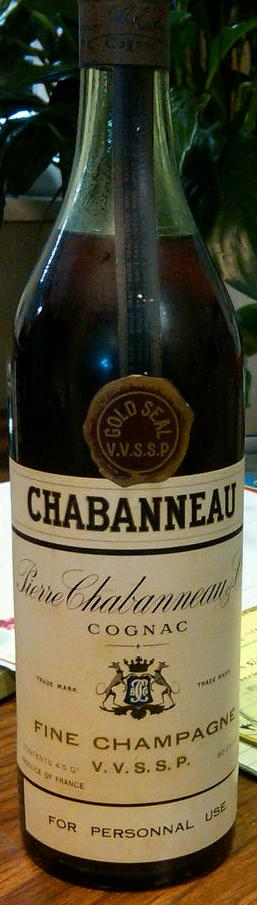 VVSSP Chabanneau Fine Champagne Gold Seal
