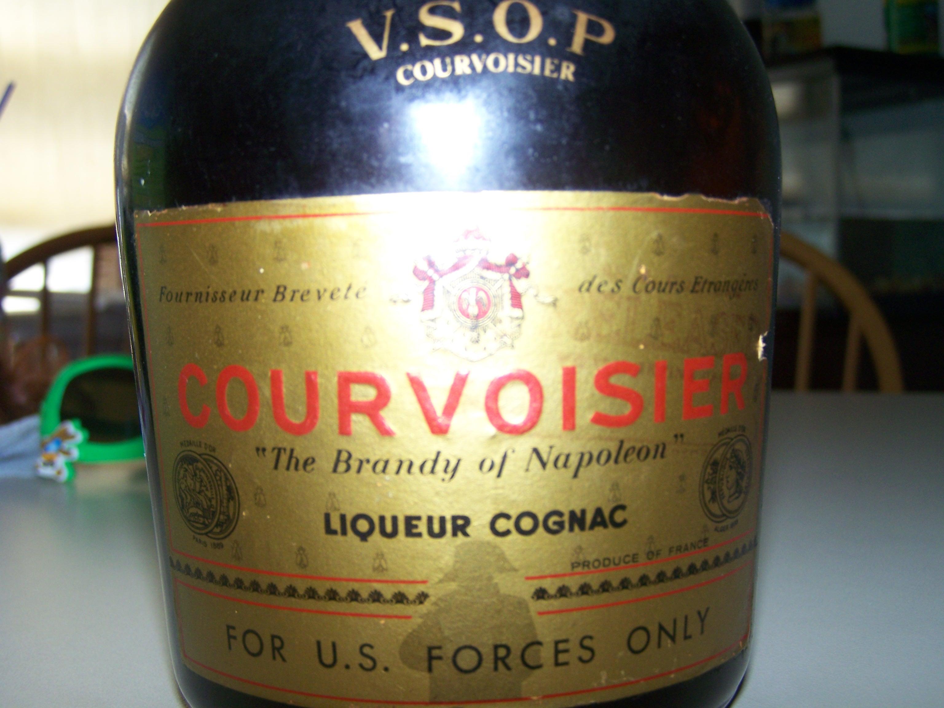 Courvoisier V.S.O.P Old Bottle label