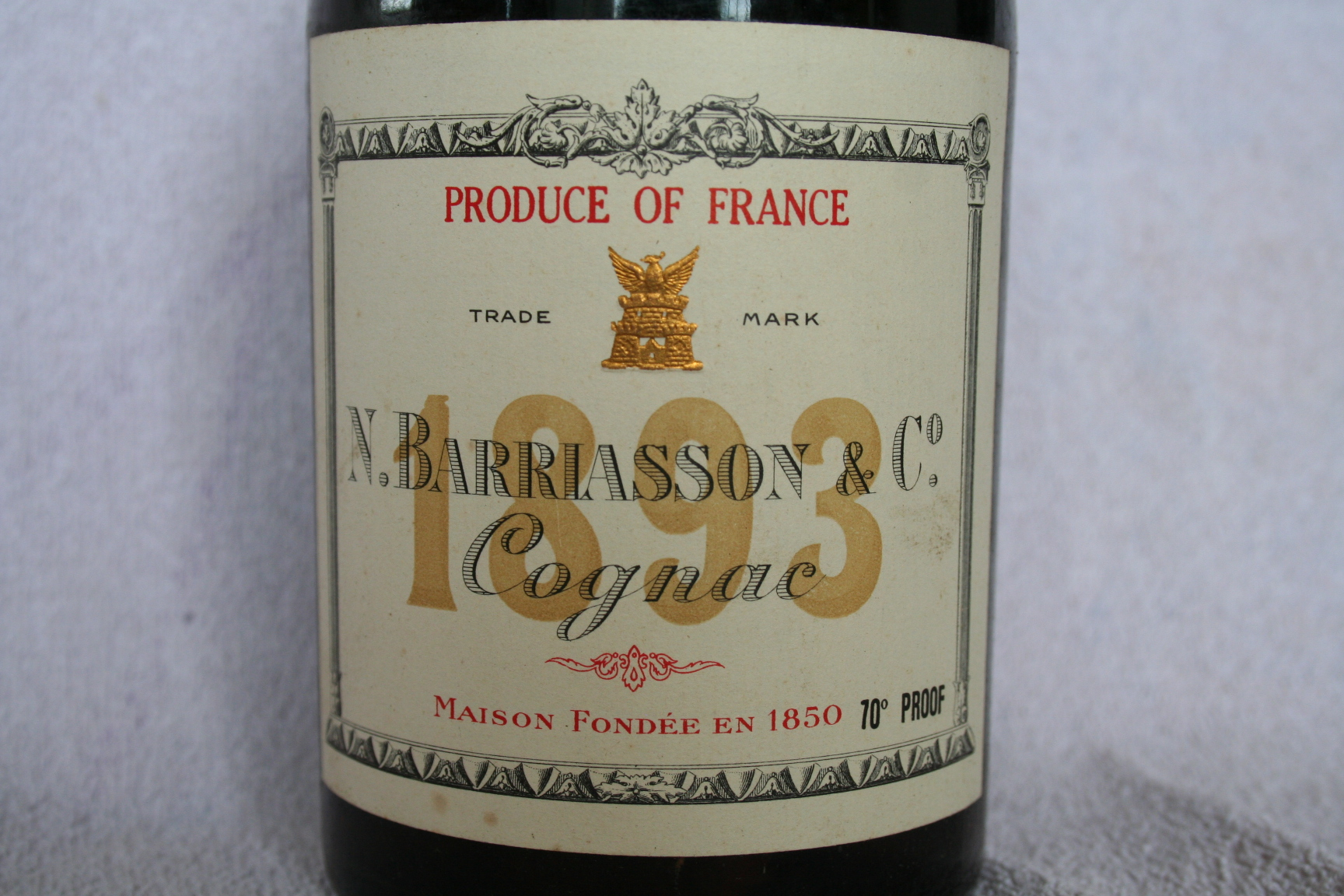 Barriasson label Grande Fine Champagne 1893