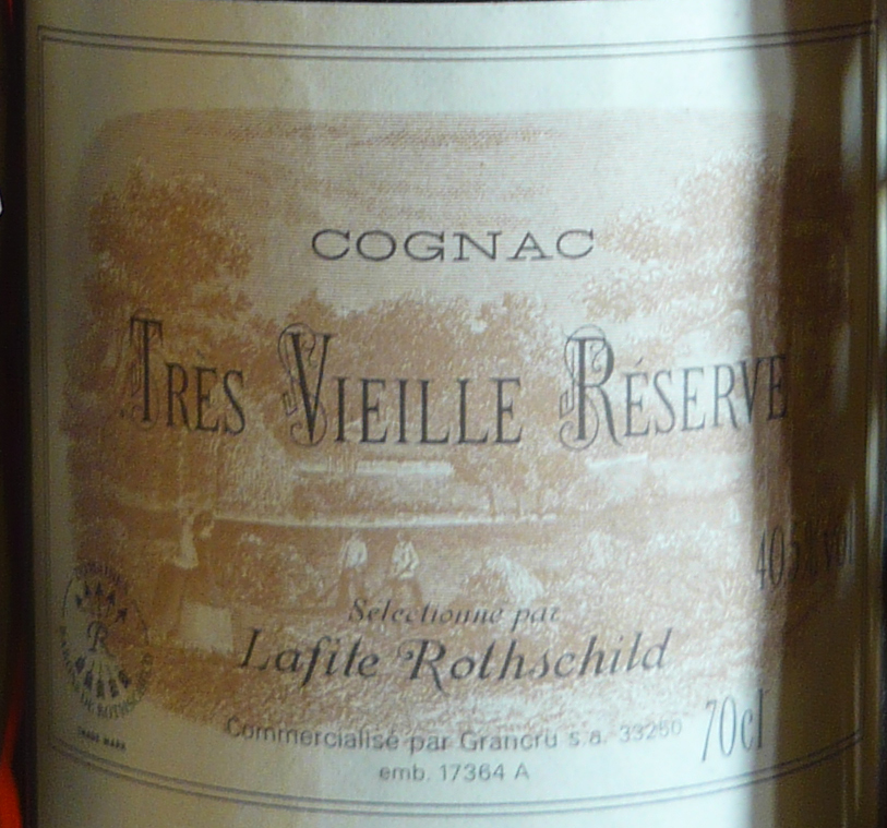 Label of Tres Vieille Reserve Lafite Rothschild