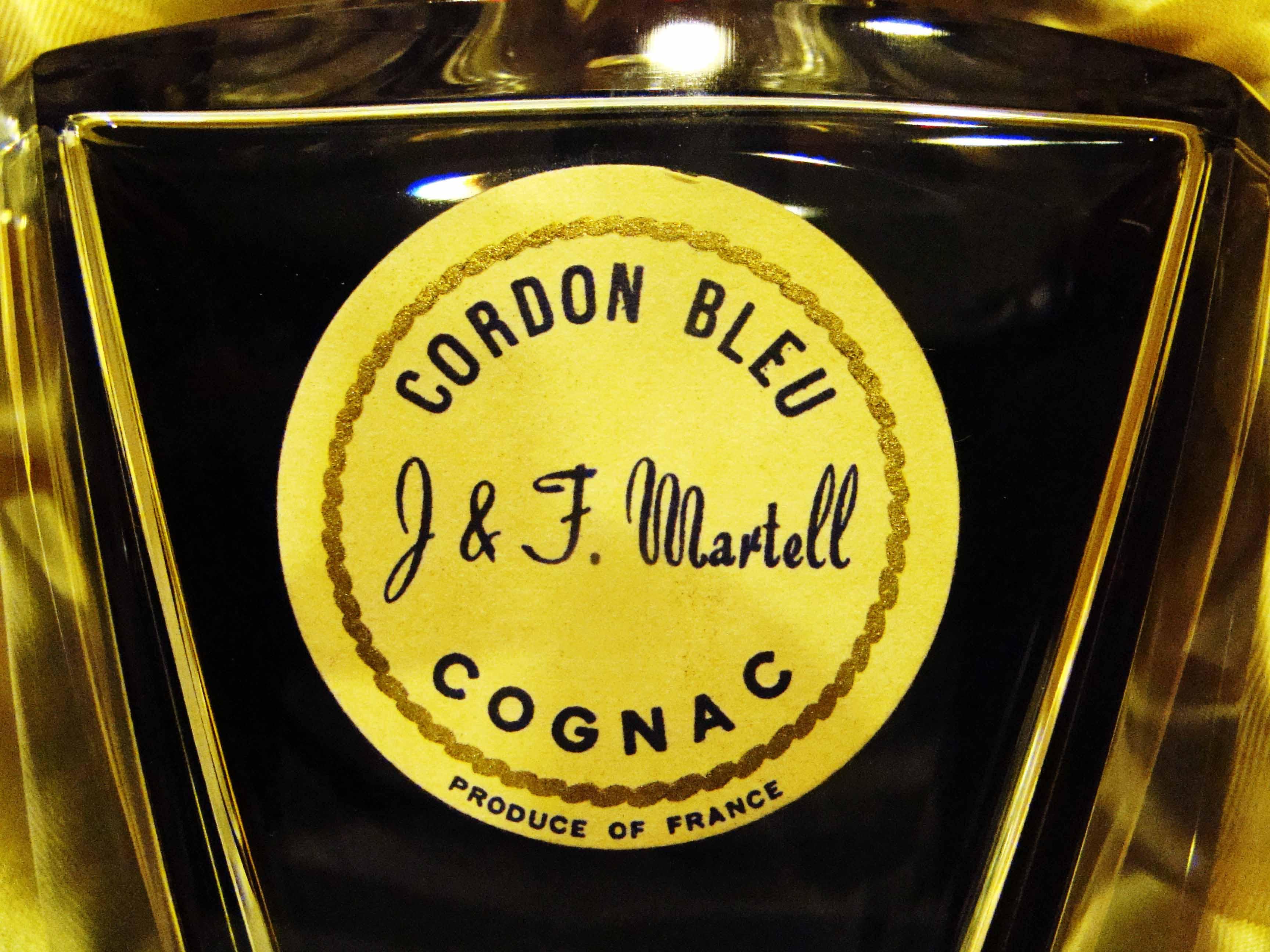 Cordon Bleu J & F Martell Baccarat Label