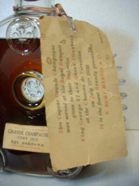 Remy Martin Old Bottle Label