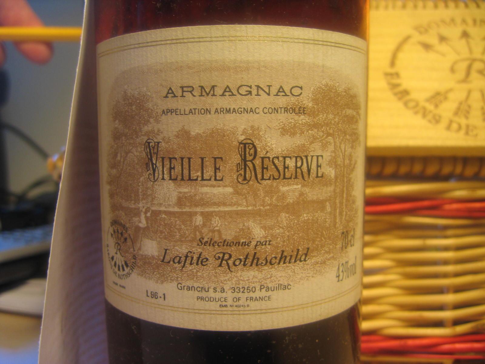 Lafite Rothschild Très Vieille Réserve 1996 Armagnac