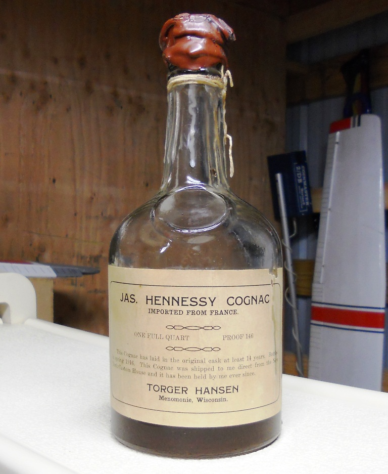 "Jas. Hennessy Cognac ""Torger Hansen"" Bottled in 1916, Exported to NYC"