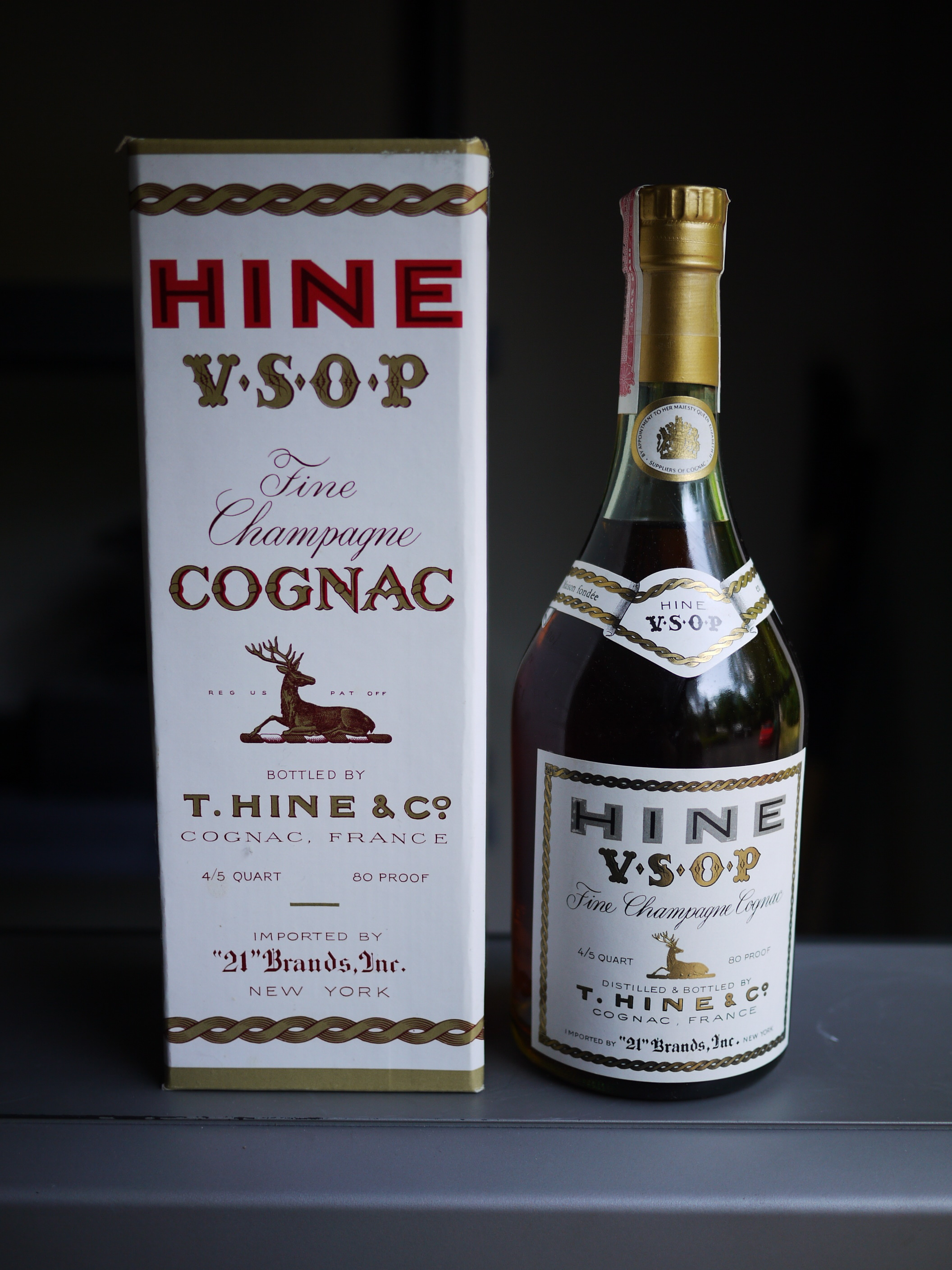 New York imported Hine VSOP Fine Champagne Cognac