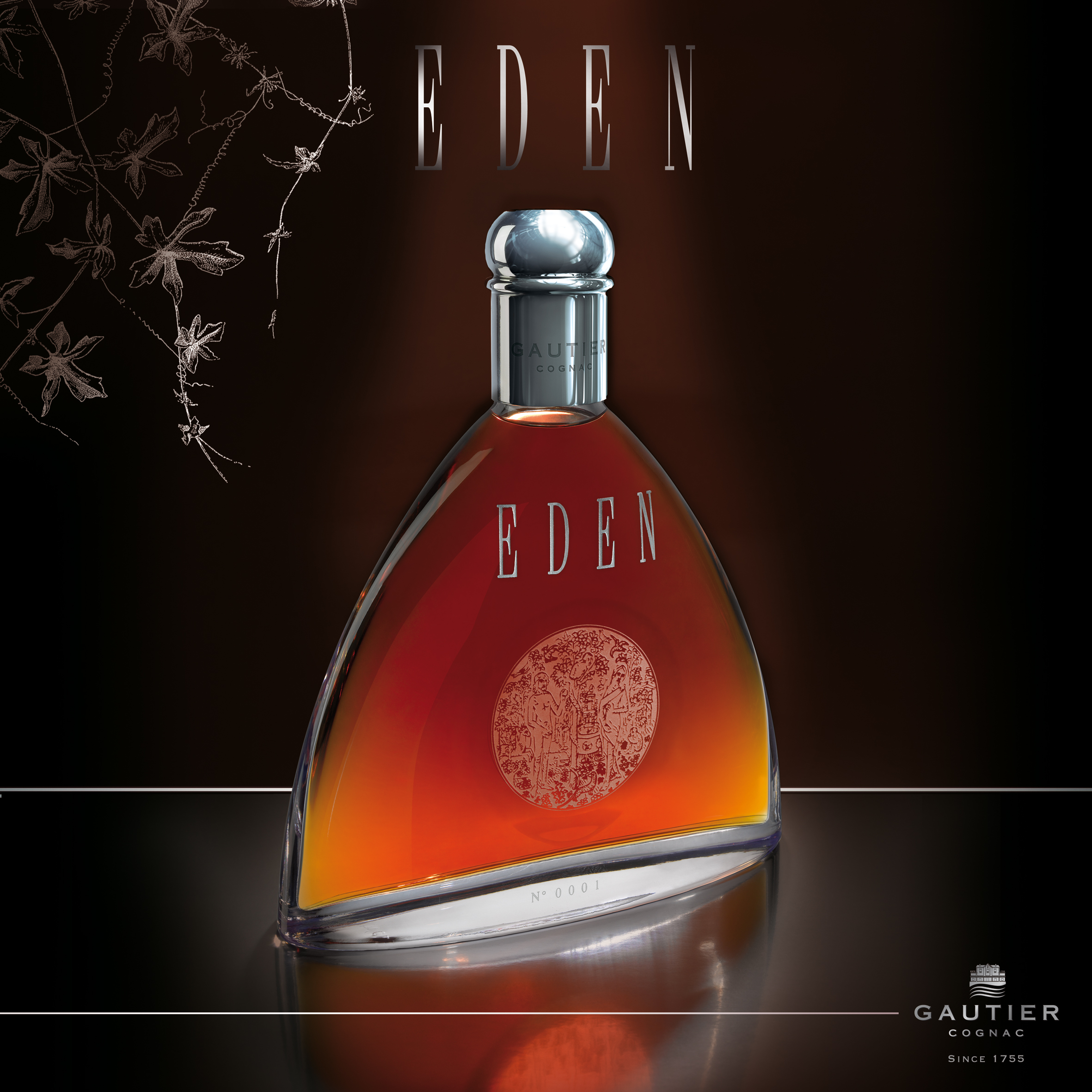 Gautier Eden Customizable Cognac Bottle