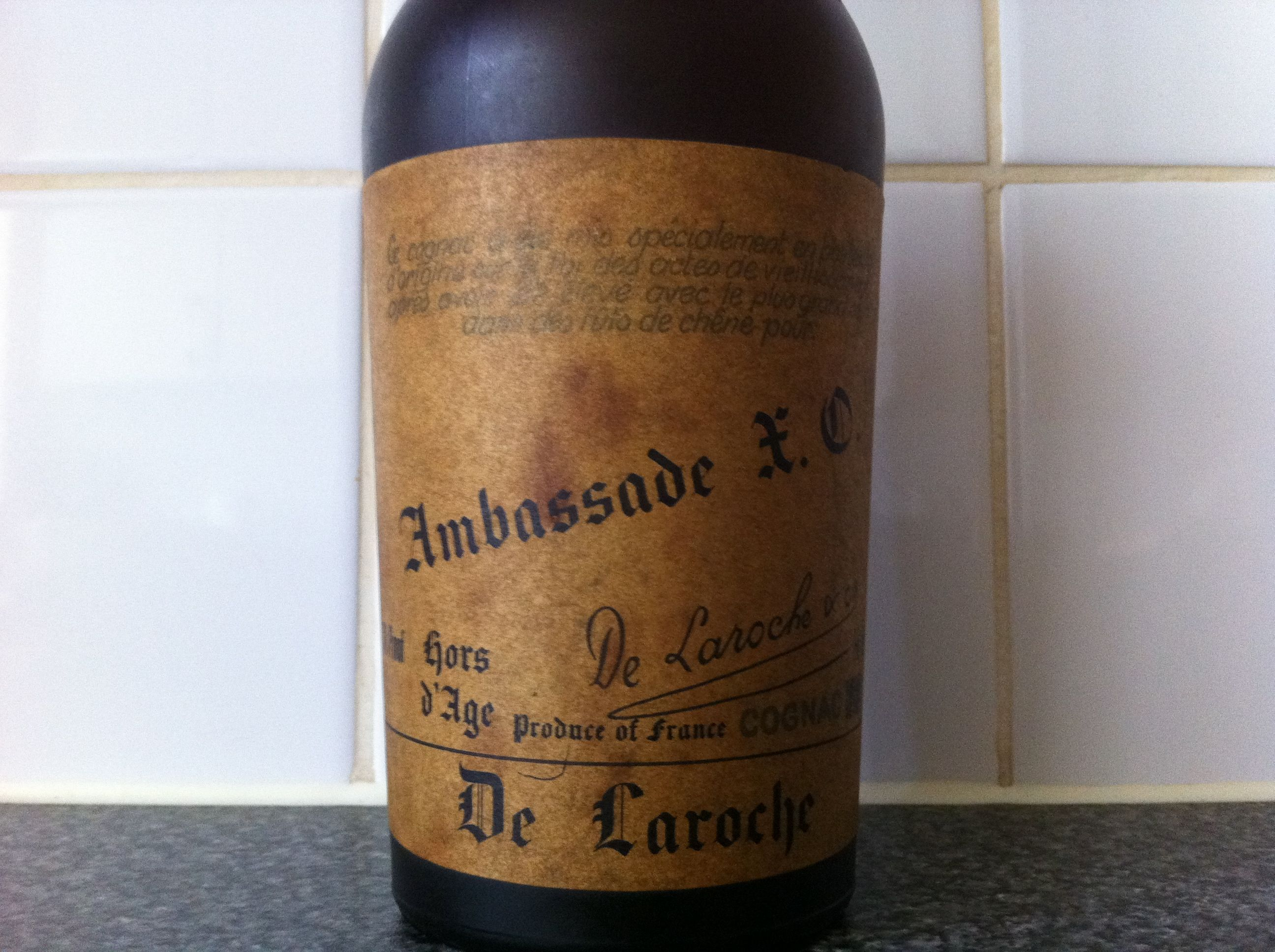 Was a Present 30 Years Ago: De Laroche Ambassade Hors D'Age XO Cognac
