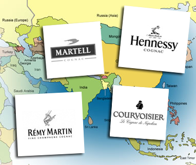 Big Four Cognac Houses in Asia