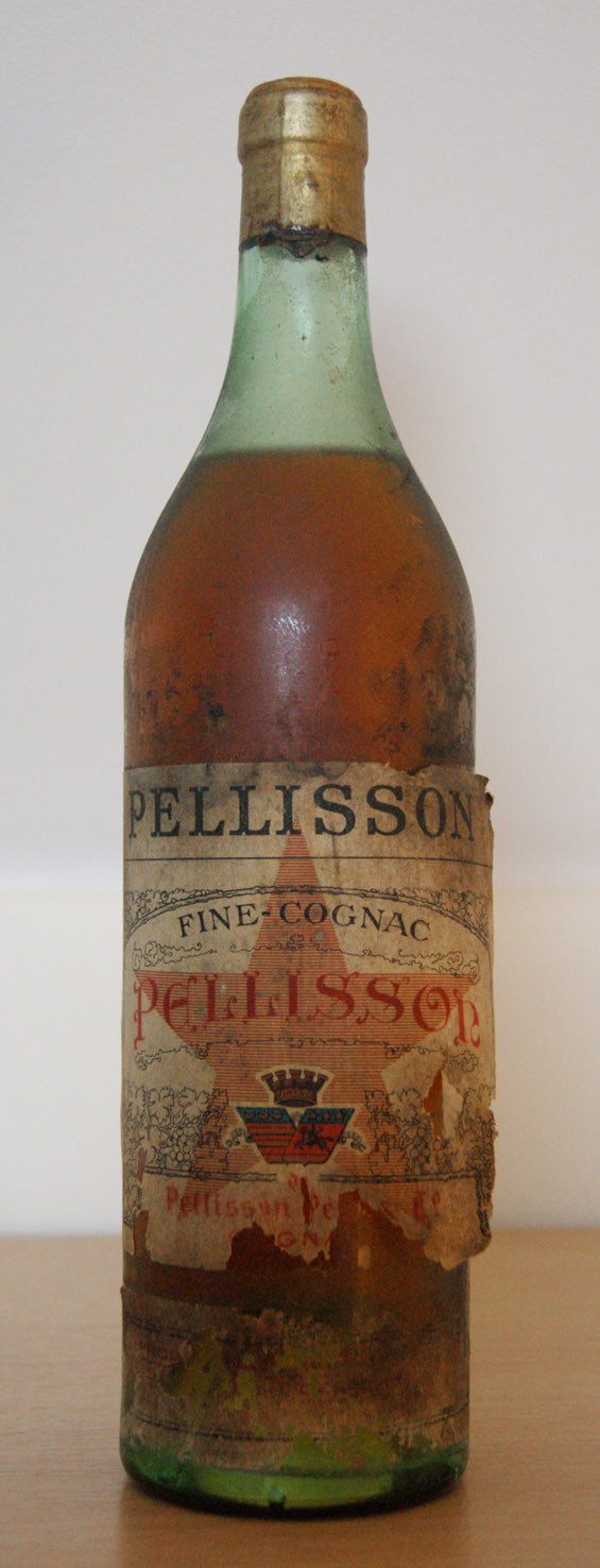 Old Bottle of Pellisson Fine Cognac, who knows more?