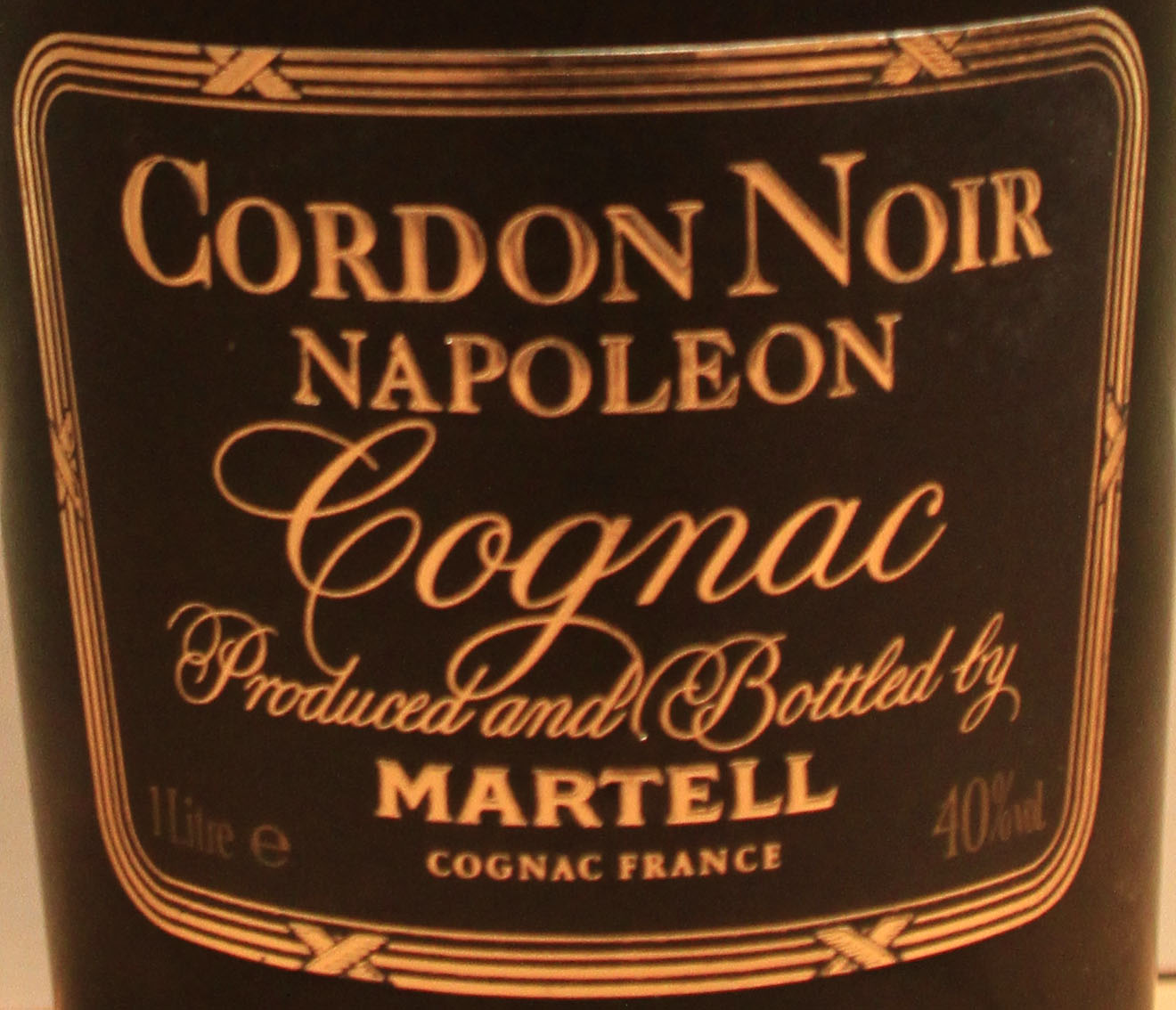 Martell Cordon Noir Napoleon Cognac: Adjusted Colour with Natural Caramel