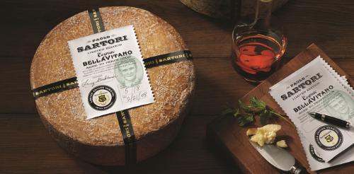 Sartori cognac Bellavitano Cheese for holiday Season
