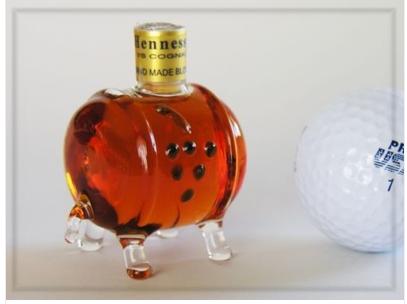 Cognac in a Glass Barrel
