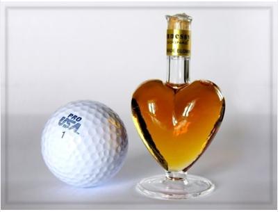 Heart Shaped cognac miniature bottle