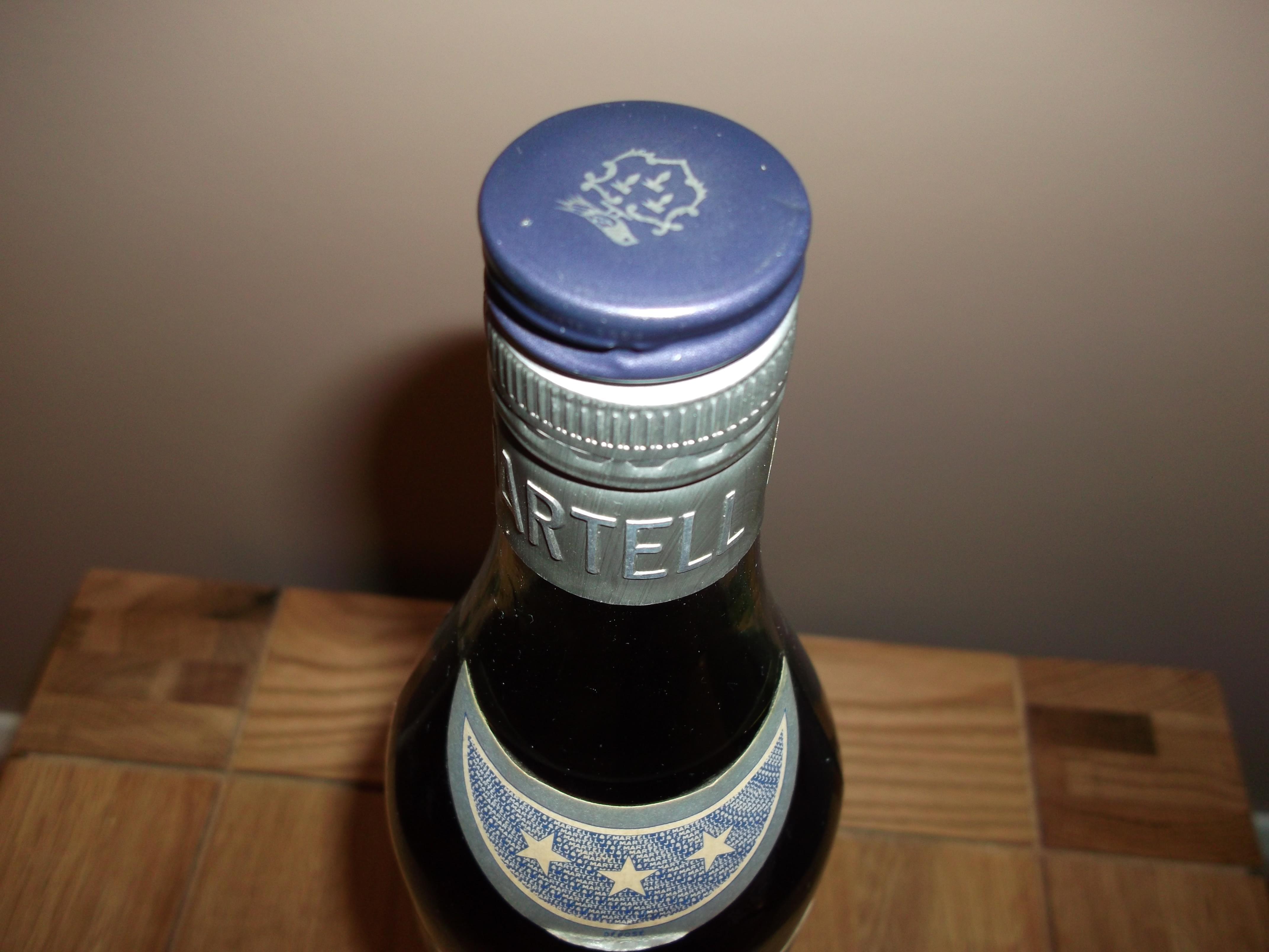 Bottleneck Martell 3 Star Bottle