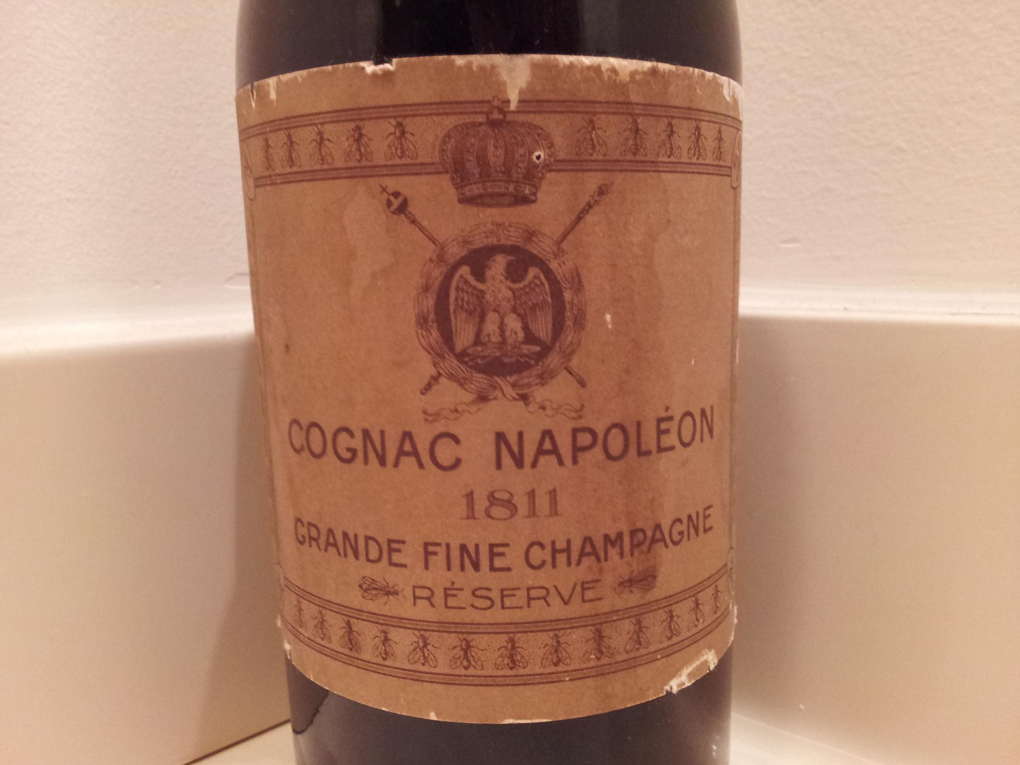 Vintage bottle Cognac Napoleon 1811 Réserve Grande Fine Champagne