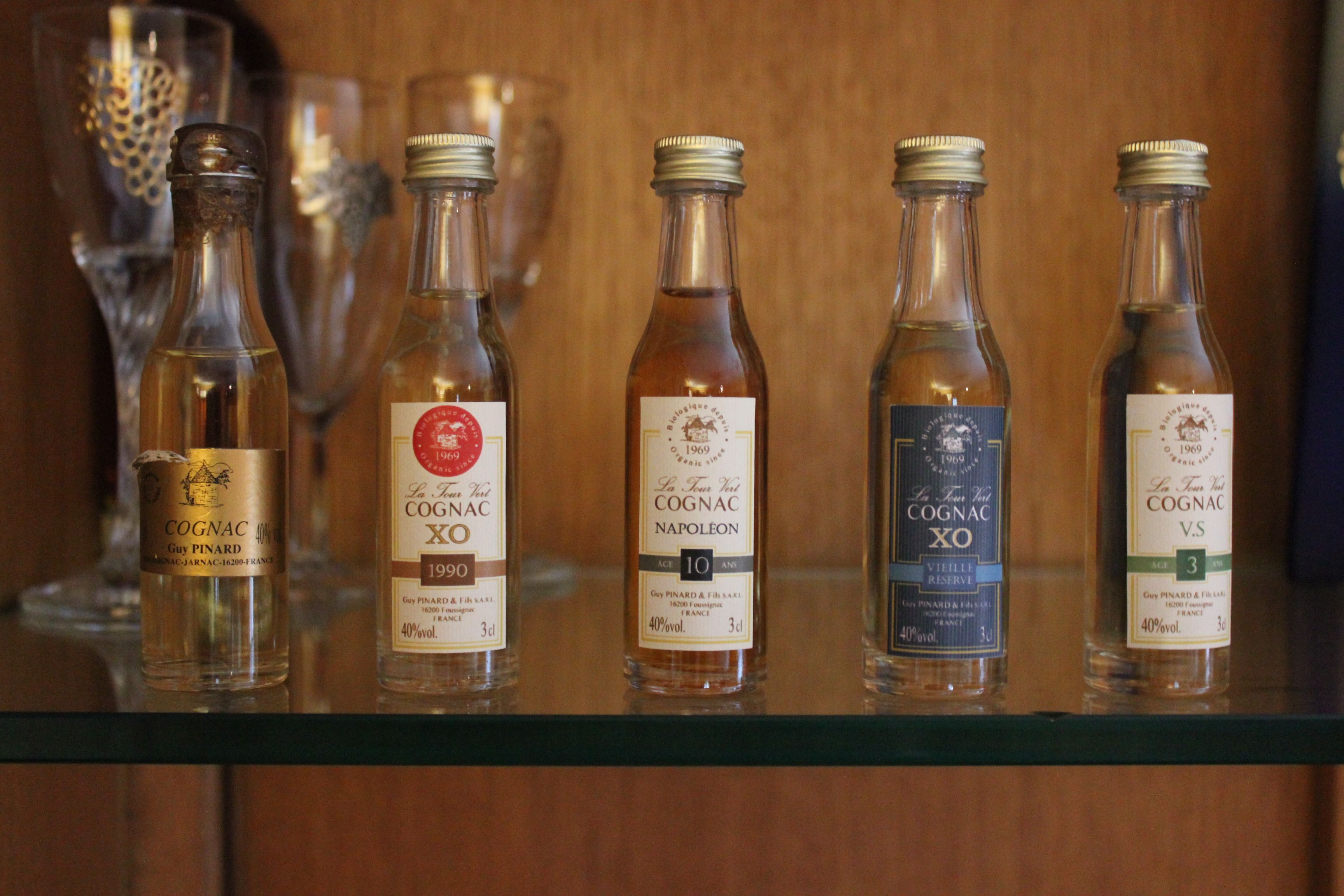 Guy Pinard家的mini小瓶干邑,颇具代表性的有机干邑