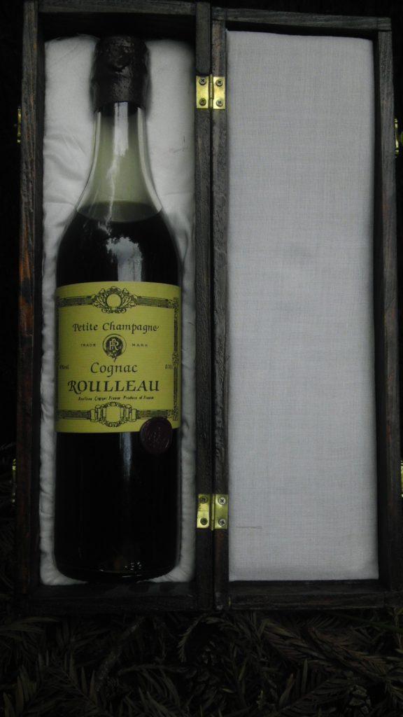 Elegant bottle of Cognac Rolleau Petit Champagne