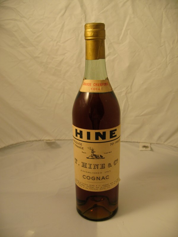 Beautiful 1914 Thomas Hine & Co Fine Grande Champagne Cognac