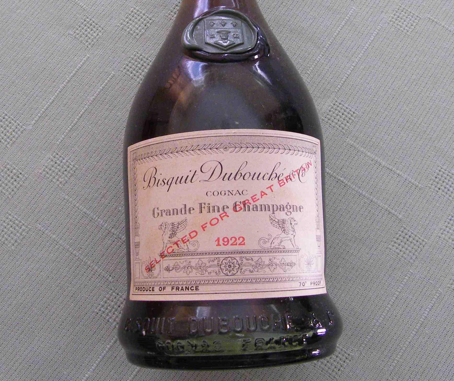 Bisquit Debouché 1922 Cognac