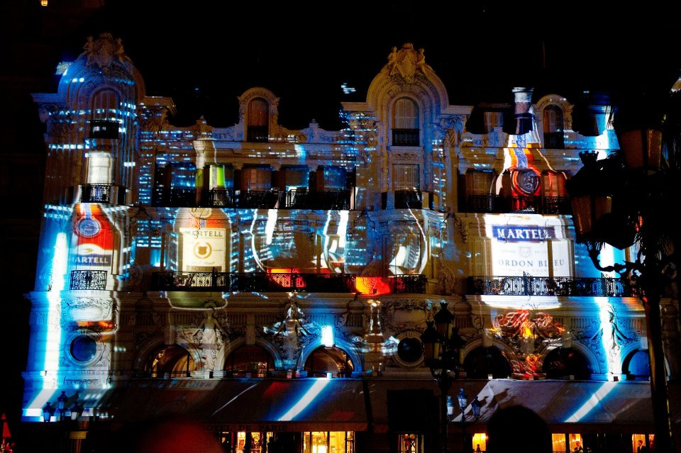 Video projection on Hotel de Paris