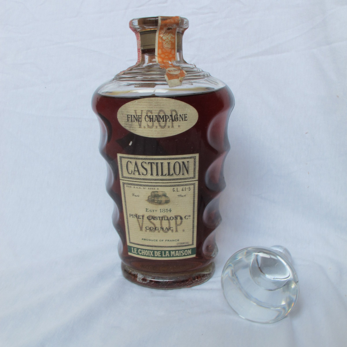 Reader has Baccarat Pinet Castillon VSOP Fine Champagne Cognac at home