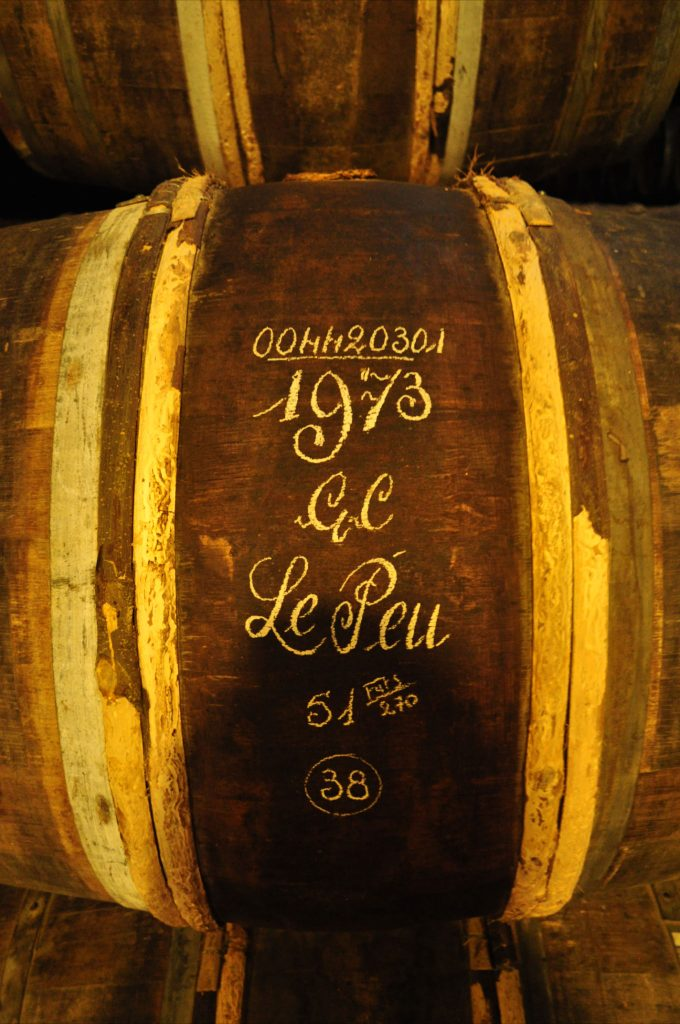 Barrel with 1973 GC Le Peu Hennessy cognac