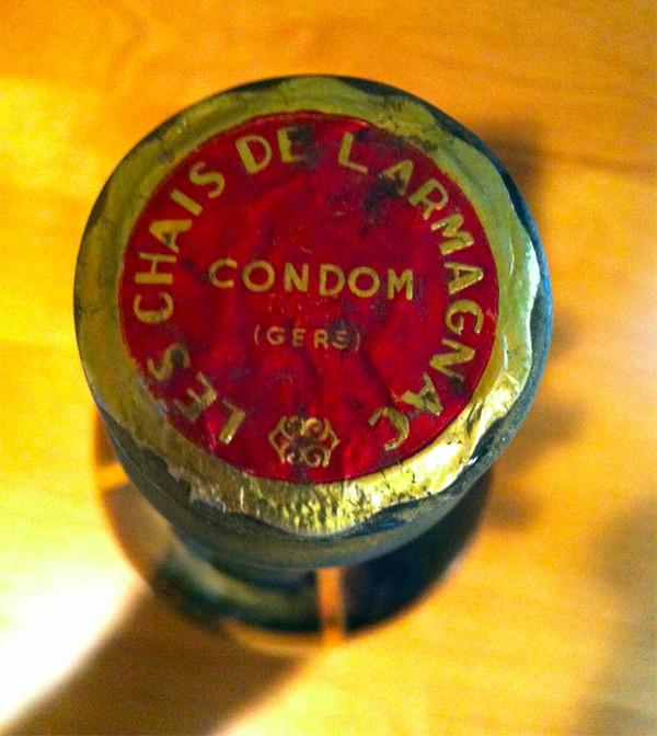 """Rare Bottle from 1914 """"Les Chais De L'Armagnac"""""""