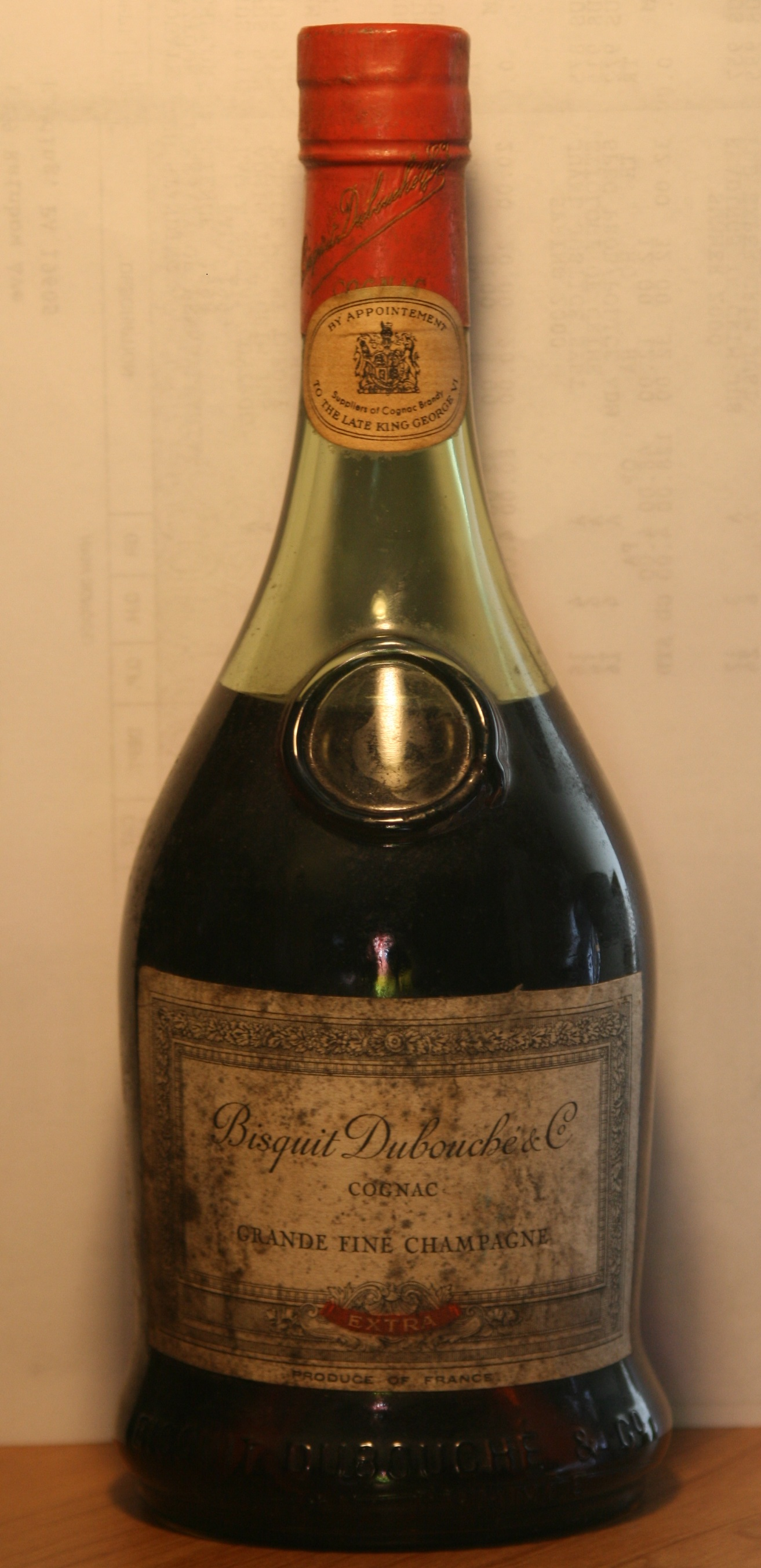 Old Bisquit Dubouche & Co Extra Grande Fine Champagne Cognac Bottle