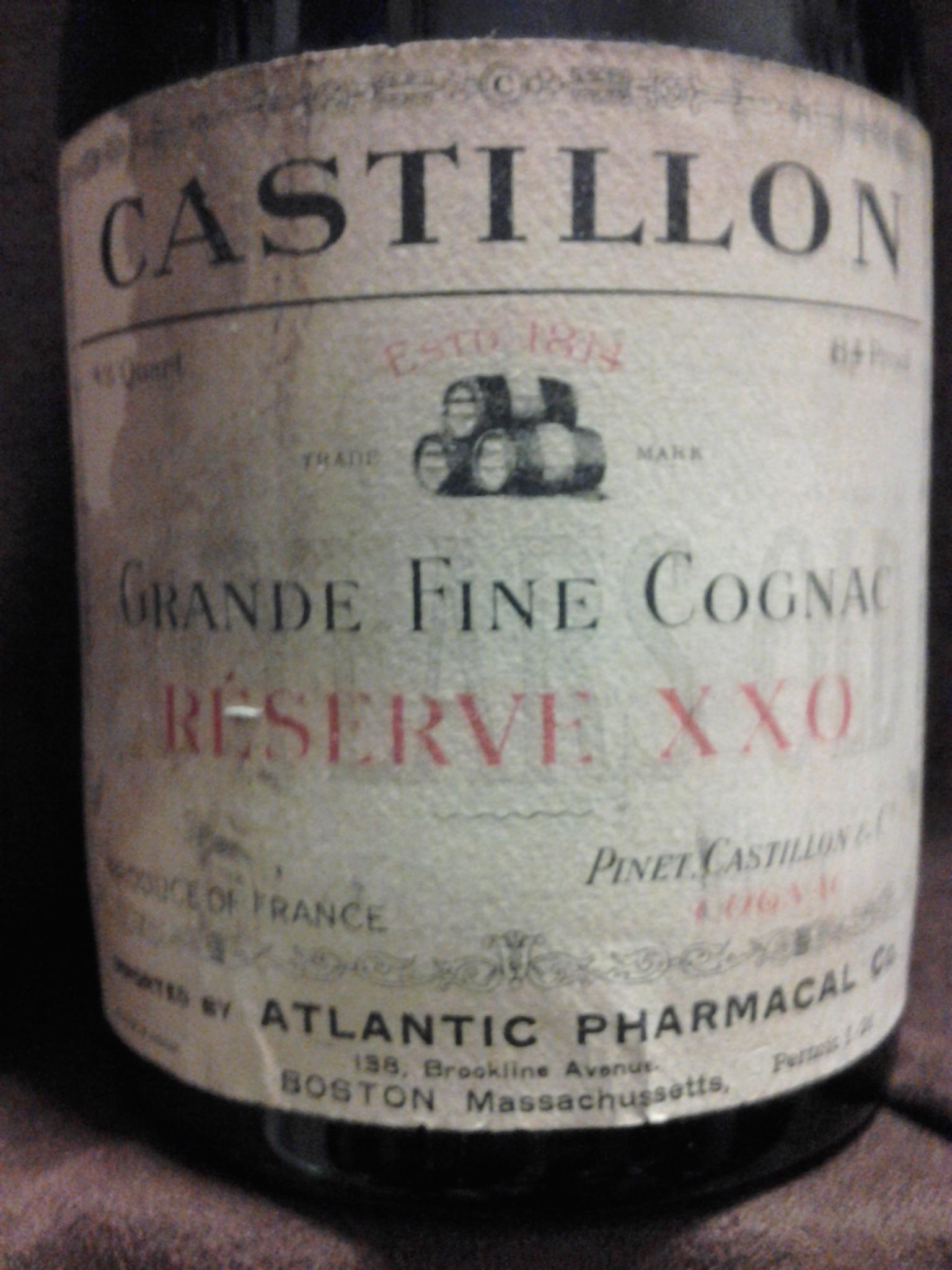 A Reader owns a Pinet Castillon Grande Fine Cognac Reserve XXO