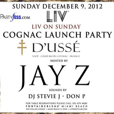 Jay Z & Cognac D'Ussé Launched in Miami this Weekend