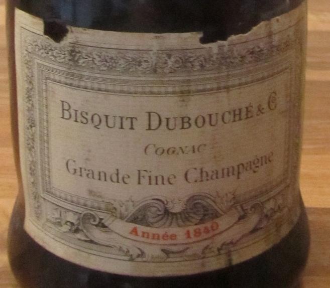 Old Bottle Grande Fine Champagne Bisquit Dubouché & Cie Year 1840