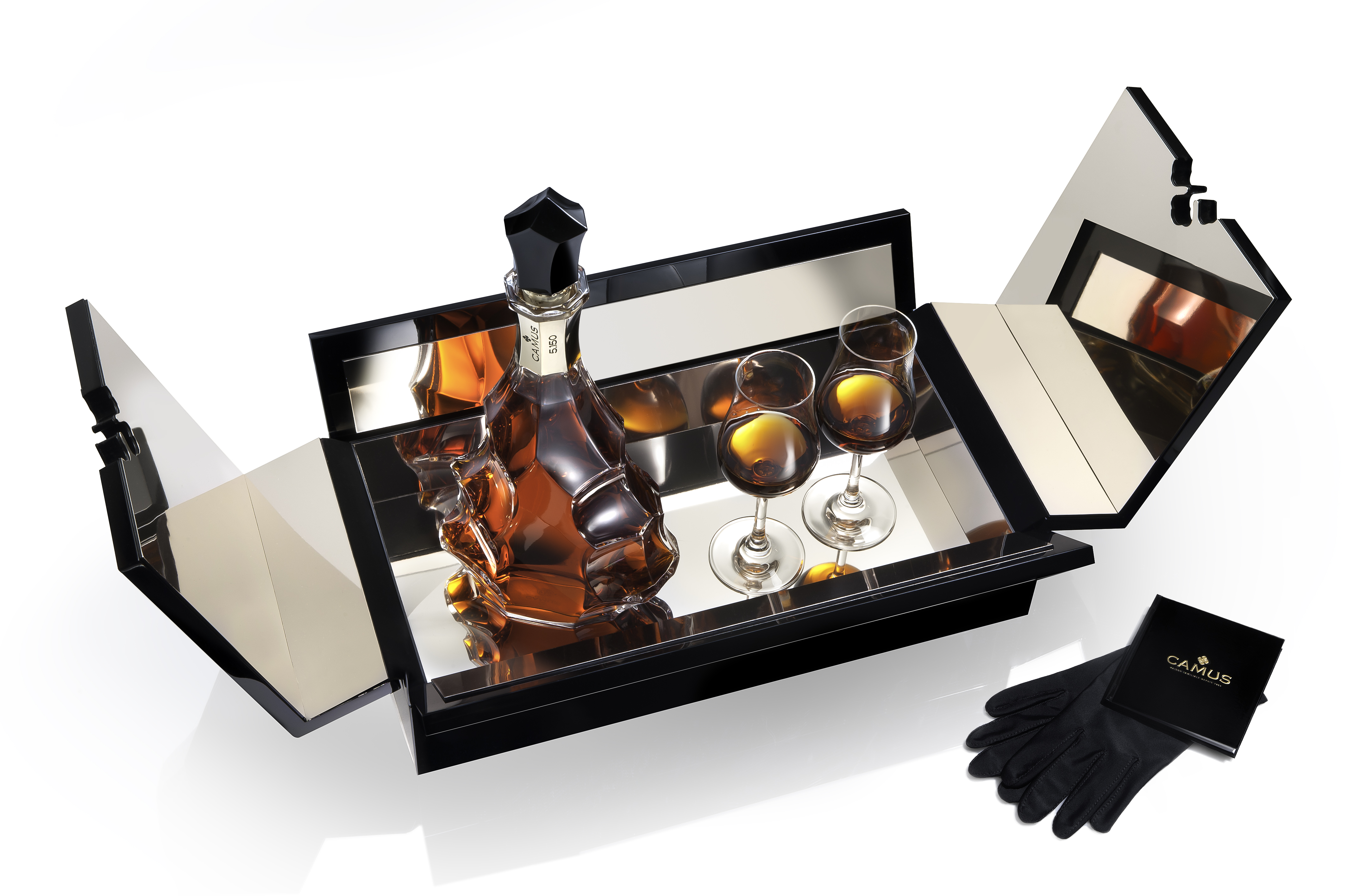 Camus Cuvee 5.150 Anniversary Cognac Box & Glasses