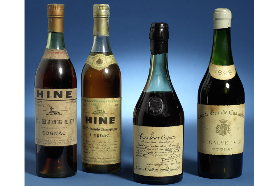 Queen Elizabeth II 1952 Hine Cognac Sold at Auction