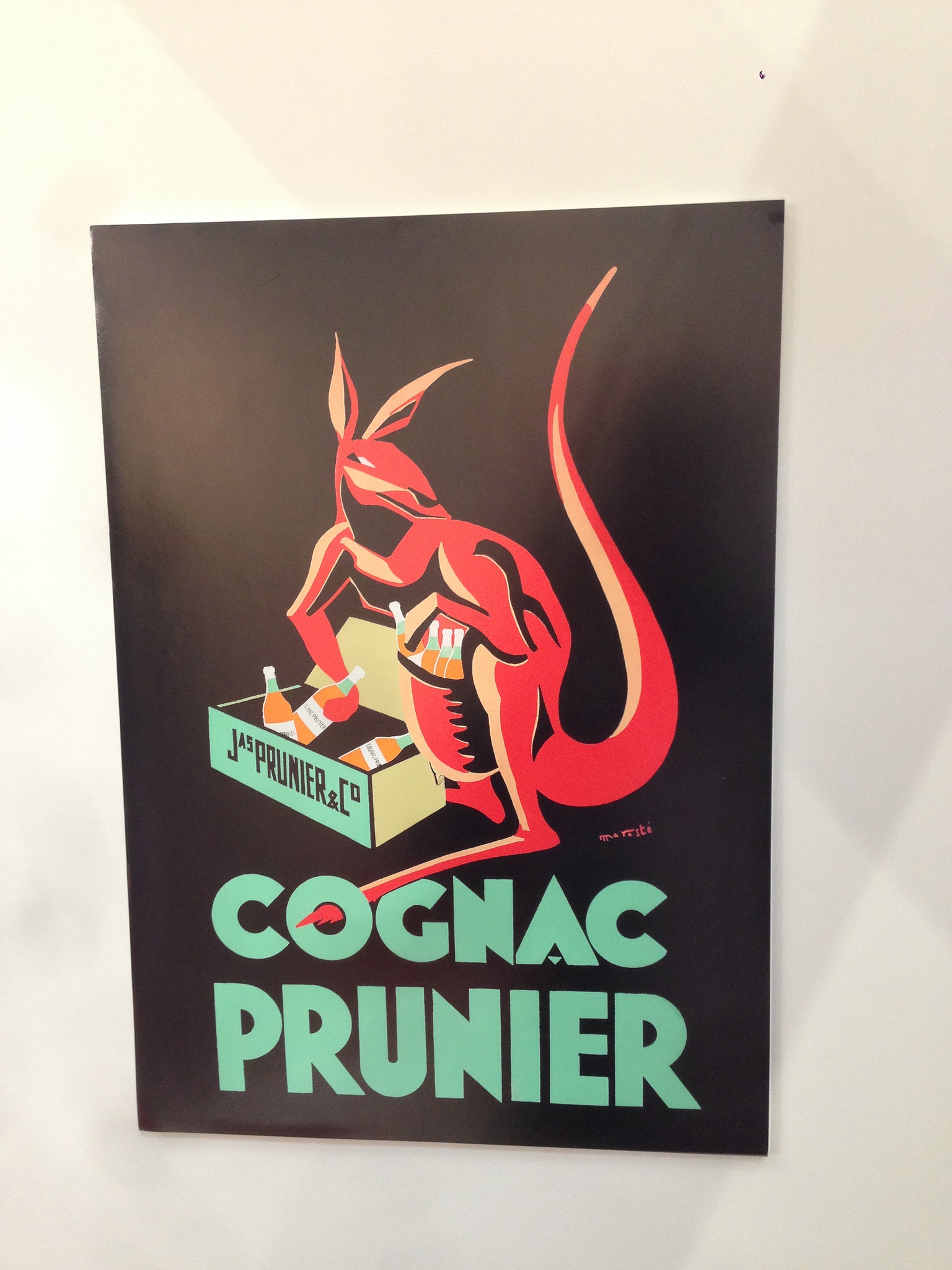 Cool vintage poster of Cognac Prunier