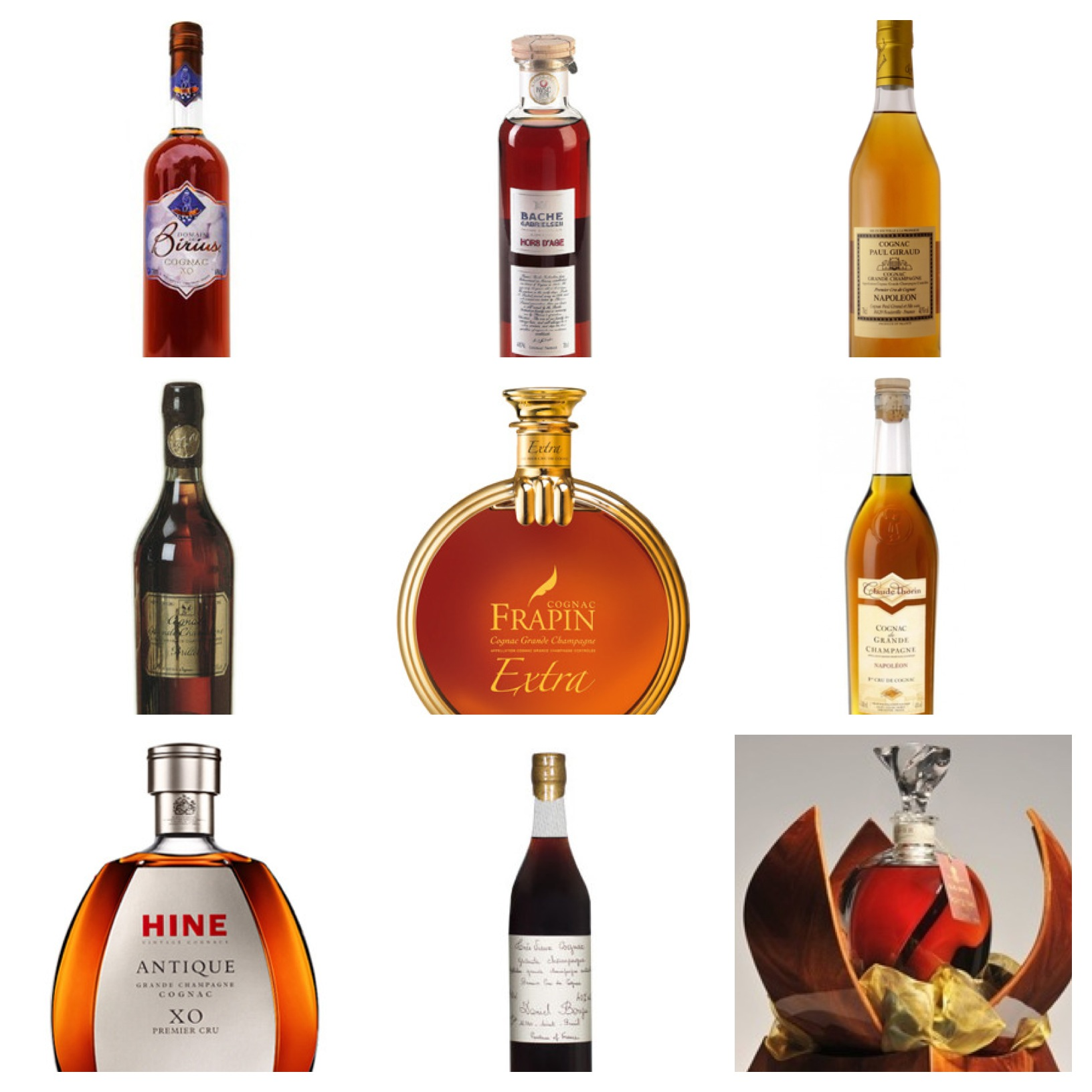 List of Ten 100% Grande Champagne Cognacs