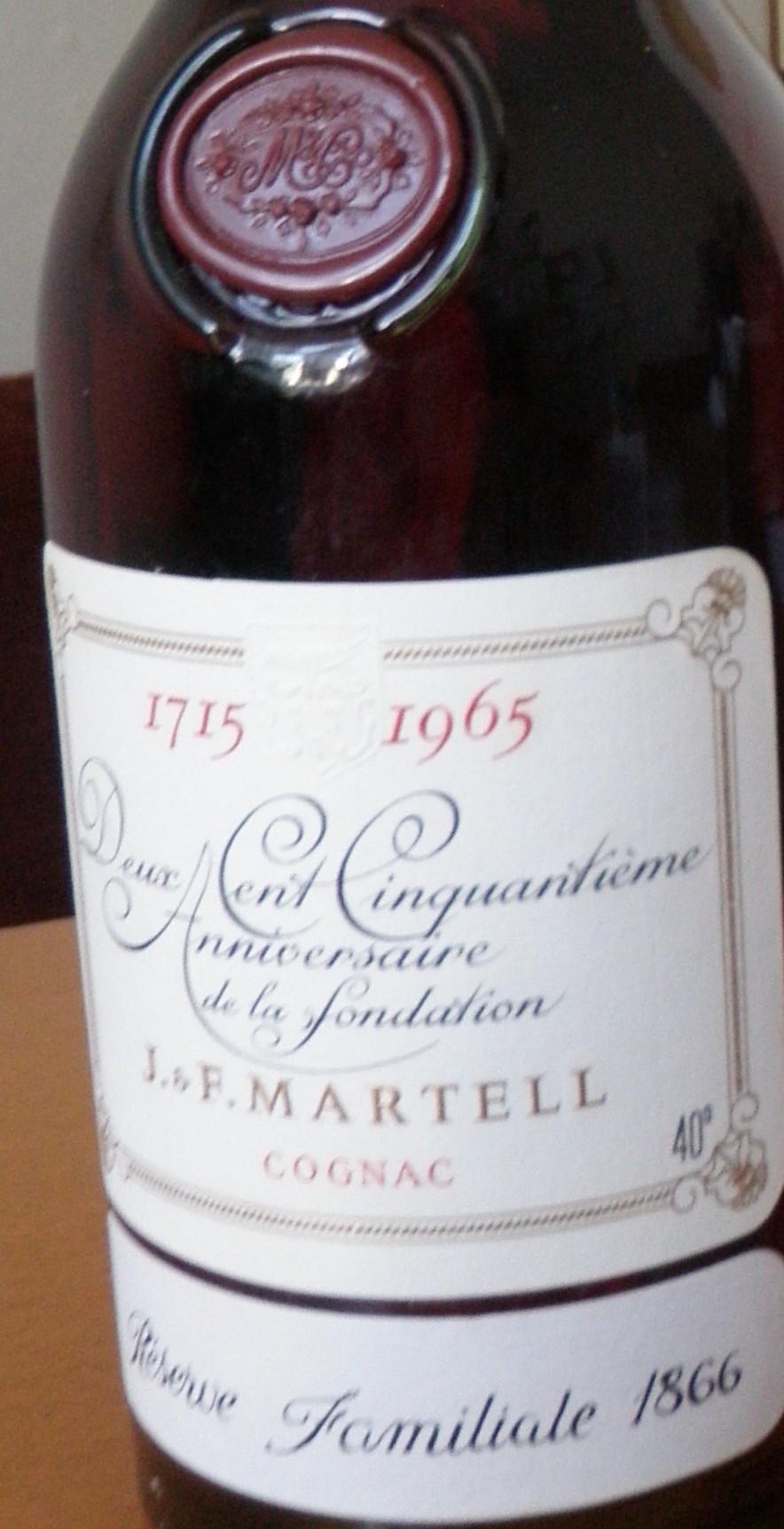 Martell Reserve Familiale 1866 Cognac