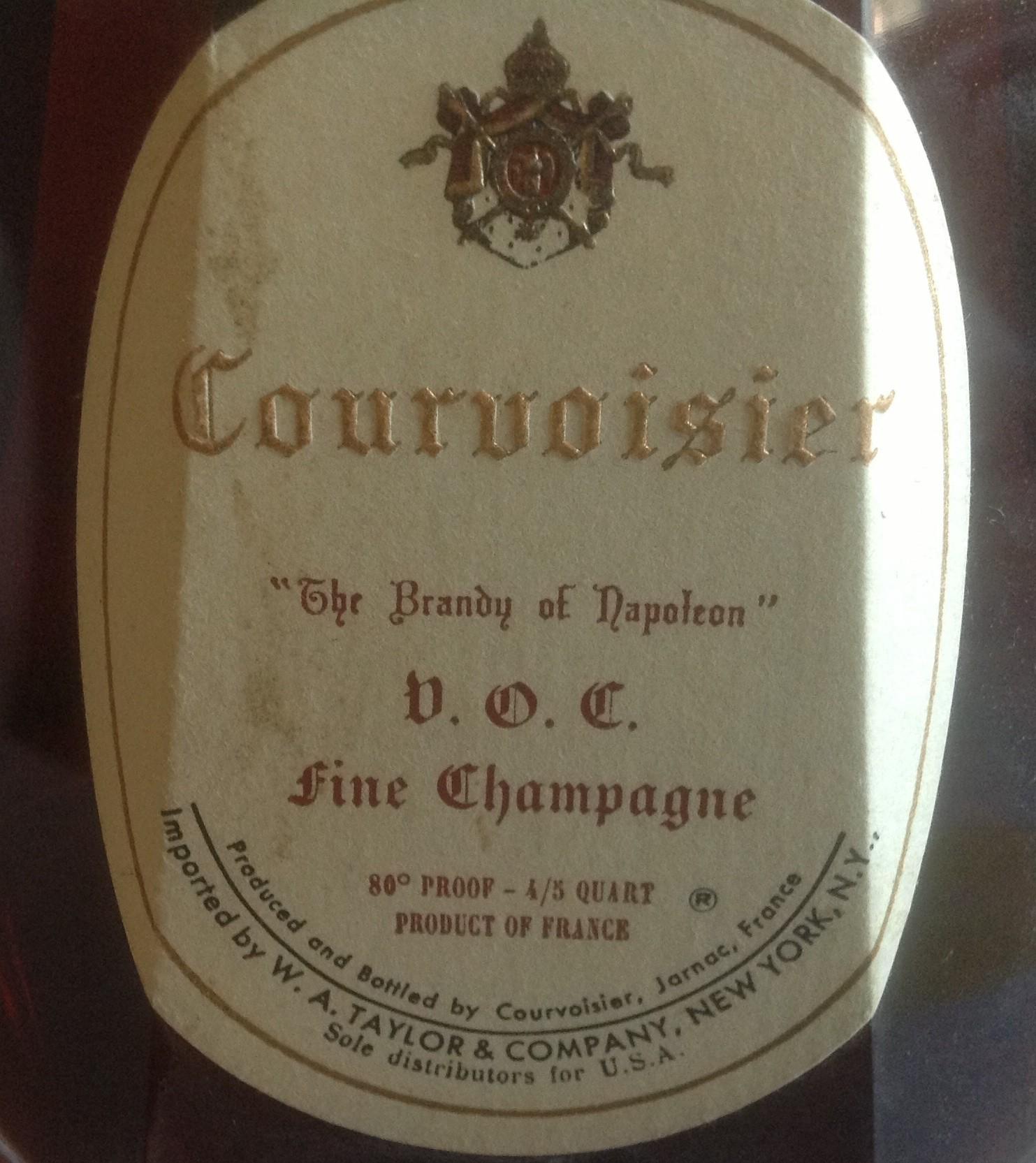 Courvoisier V.O.C. Fine Champagne Cognac