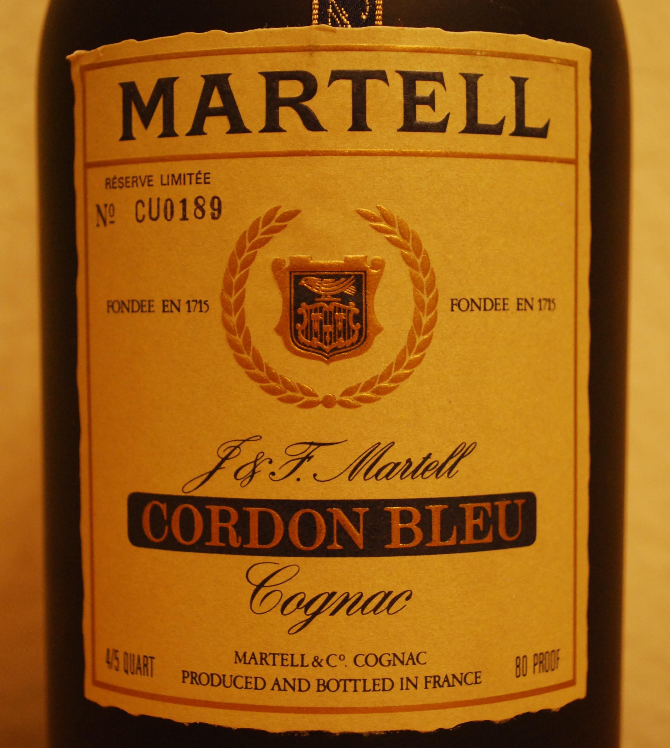 Martell Cordon Bleu Réserve Limitée