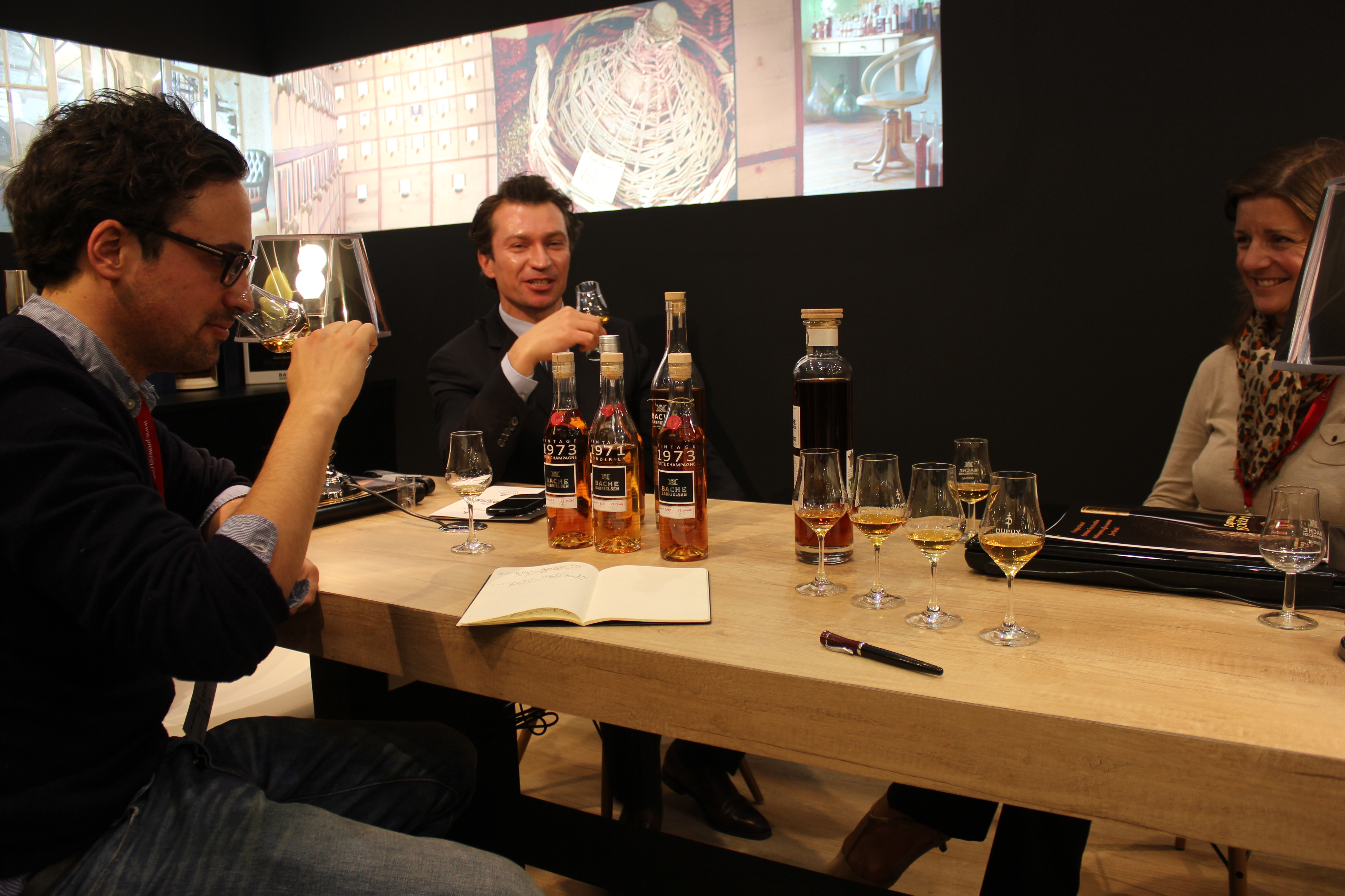 Tasting at the booth of Bache-Gabrielsen