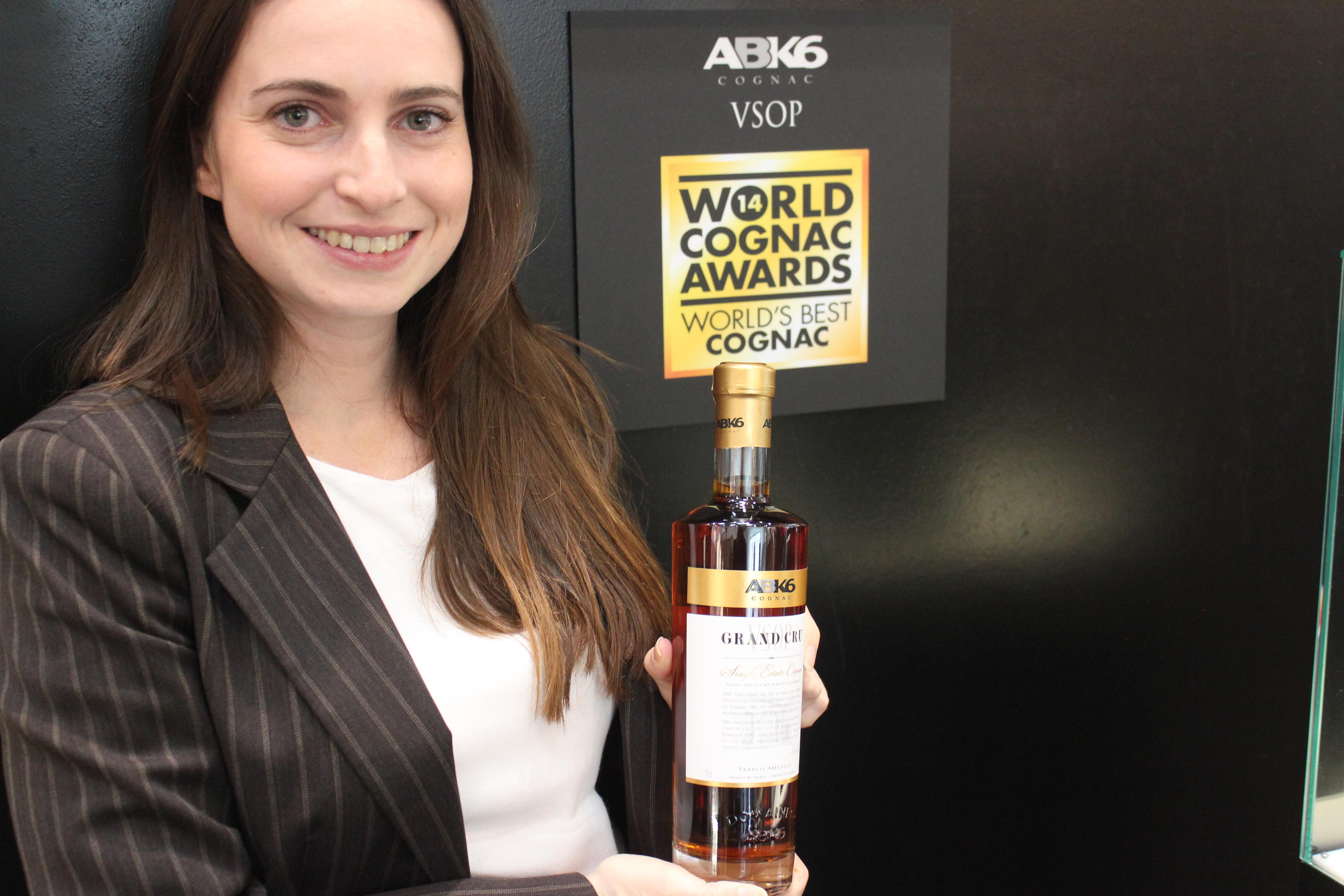 Elodie presenting the award winning Single Estate VSOP of ABK6