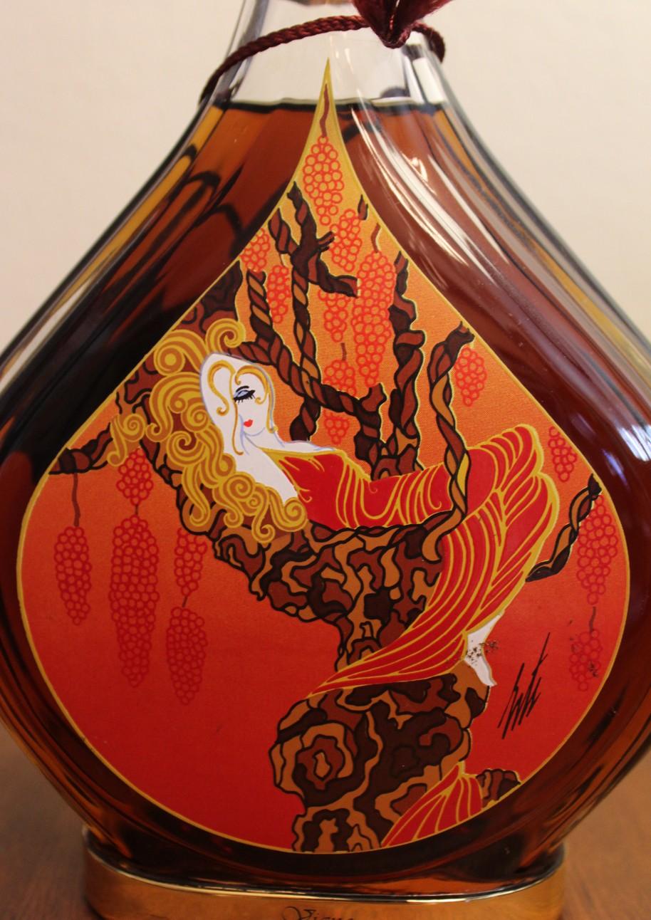 Courvoisier Erte Collection Bottles 1-7