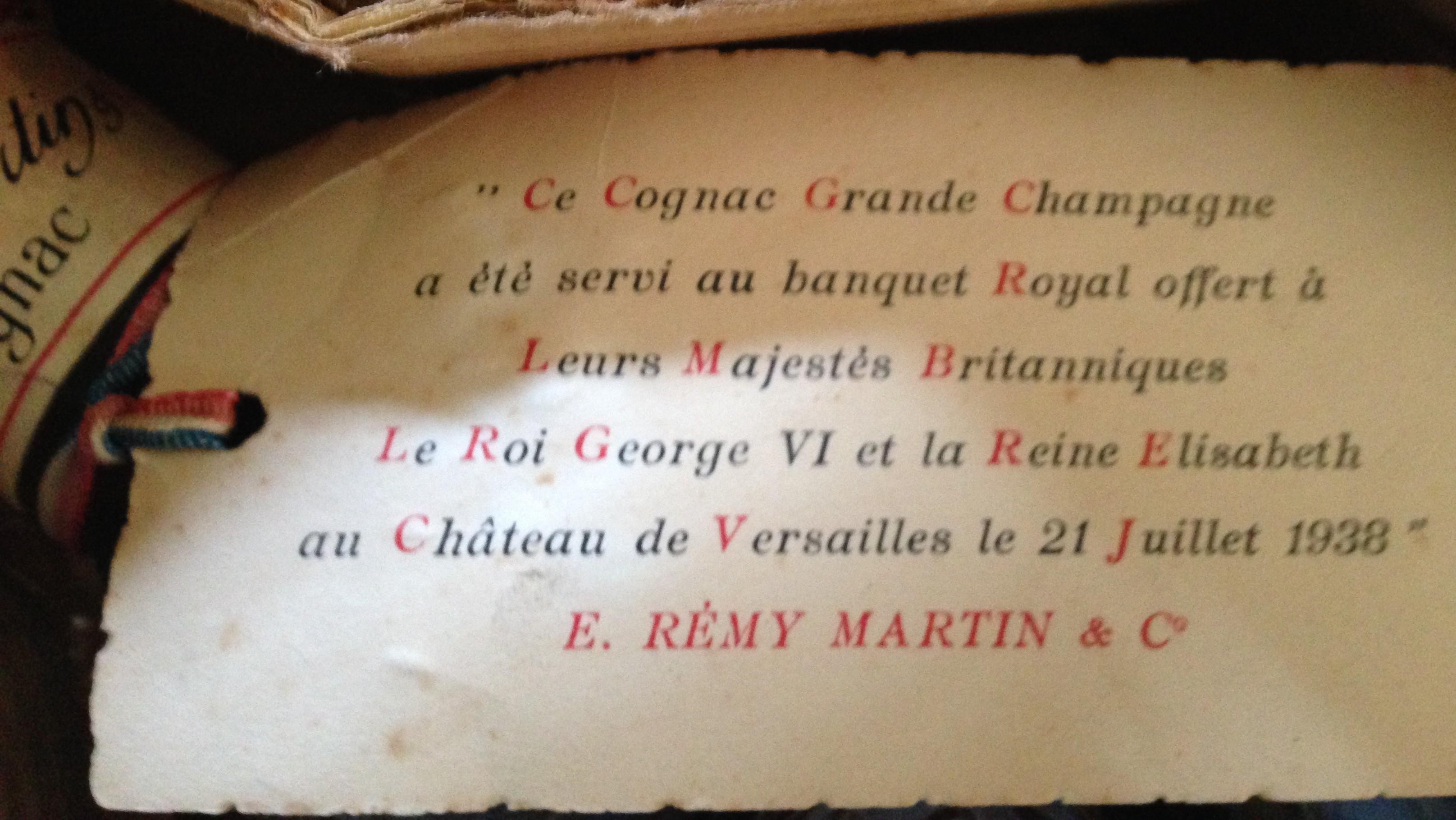 Rémy Martin Grande Champagne Cognac, Très Vieille, Age Inconnu